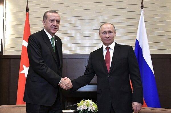 Путин иЭрдоган обсудили ситуацию вСирии