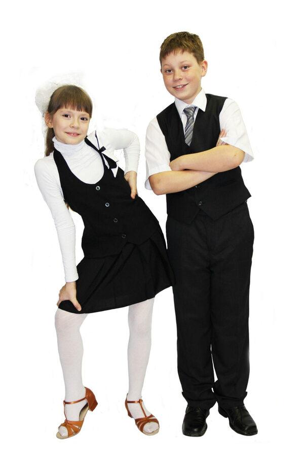 Картинка девочка и мальчик в школьной форме